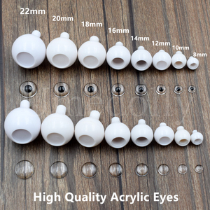 4 Pairs High Quality 8/10/12/14/16/18/20/22mm Round Acrylic BJD Doll Eyes 1/3 1/4 1/6 SD BJD Doll Eyeball Clay DIY Accessories(China)