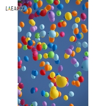 Laeacco Blue Sky Fly Balloons Backdrop Party Portrait Photography Background Customized Photographic Backdrops For Photo Studio