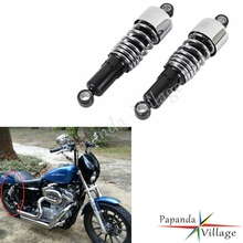 Papanda Motorcycle Chrome Drop-in Fork Springs Lower Front Rear Lowering Slammer Kit for Harley Sportster XL883 1200 2004-2017