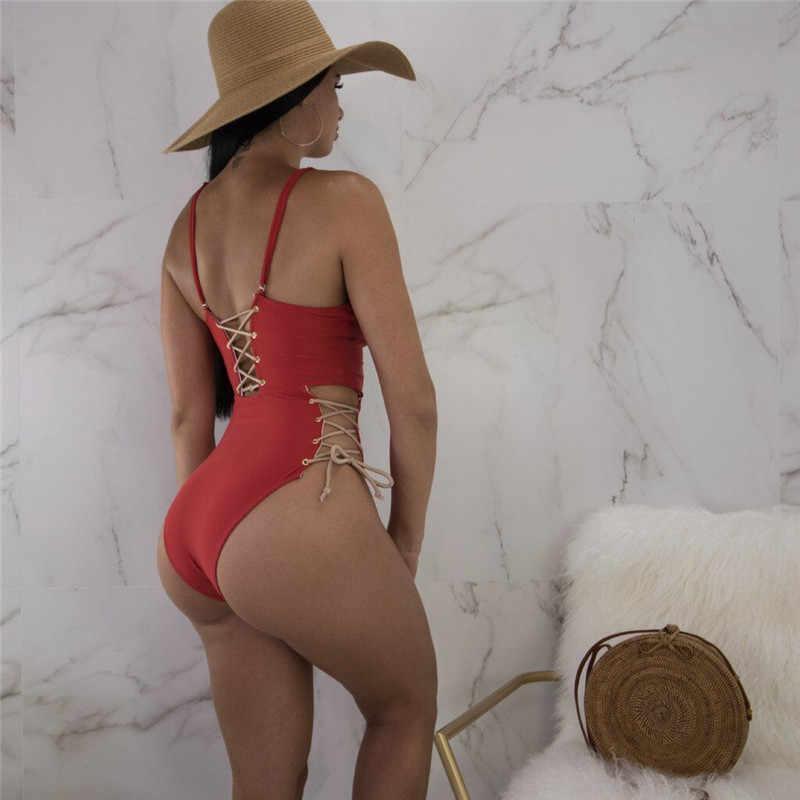 Sexy une pièce maillot de bain femmes 2018 été maillots de bain Push up maillots de bain maillots de bain Monokini maillot de bain