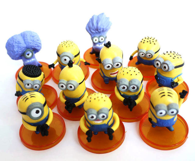 12 pcs Despicable Me Minion Character Display Figures Kid Toy Cake