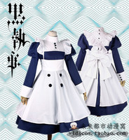 Black butler Meyrin Sailor suit cosplay costume maid dress Free Shipping