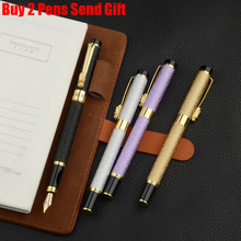 Free Shipping Hero Dragon Clip Crystal Fountain Pen Full Metal Business Executive Ink Pen Buy 2 Pens Send Gift стоимость