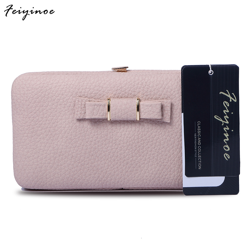 Women wallets Long design Wallet cute bow student lunch box purse large capacity mobile phone aosbos fashion portable insulated canvas lunch bag thermal food picnic lunch bags for women kids men cooler lunch box bag tote