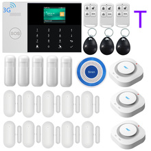 3G WIFI GPRS SIM SMS RFID Card  APP Remote Control Wireless Top Home Security Alarm System With 9 Languages Voice Alarm System smartyiba support 3g sim wifi alarm system security home signaling home alarm system app remote for small house smoke sensor