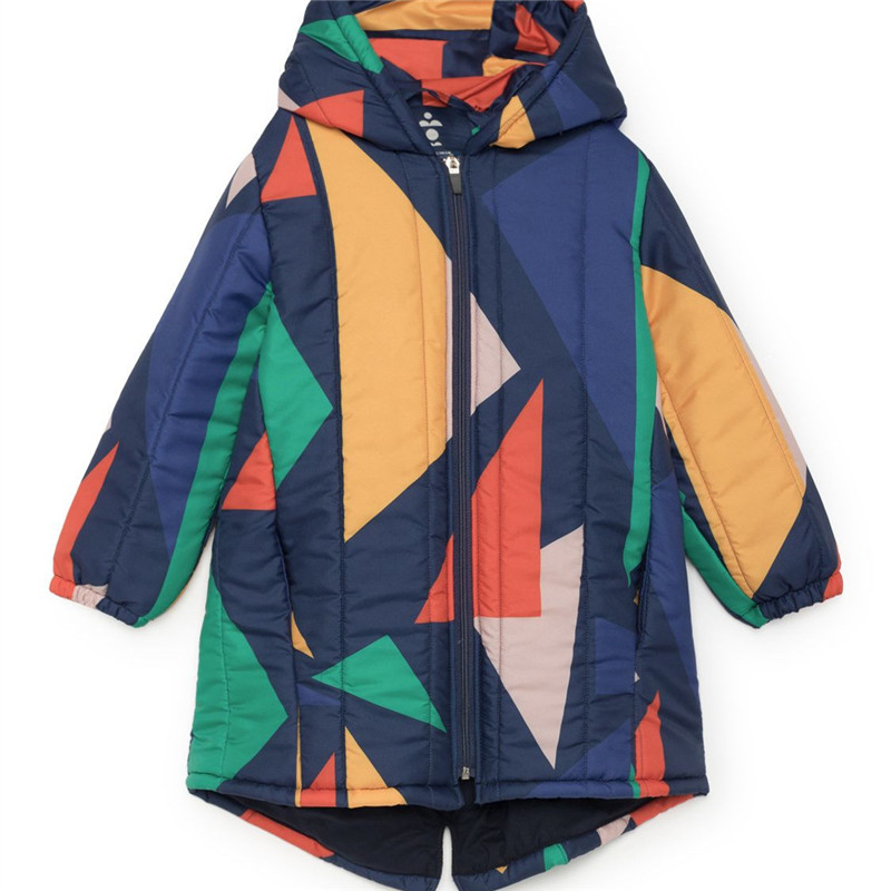 BOBOZONE 2018 Geometric Padded Jacket for kids girls boys coat все цены