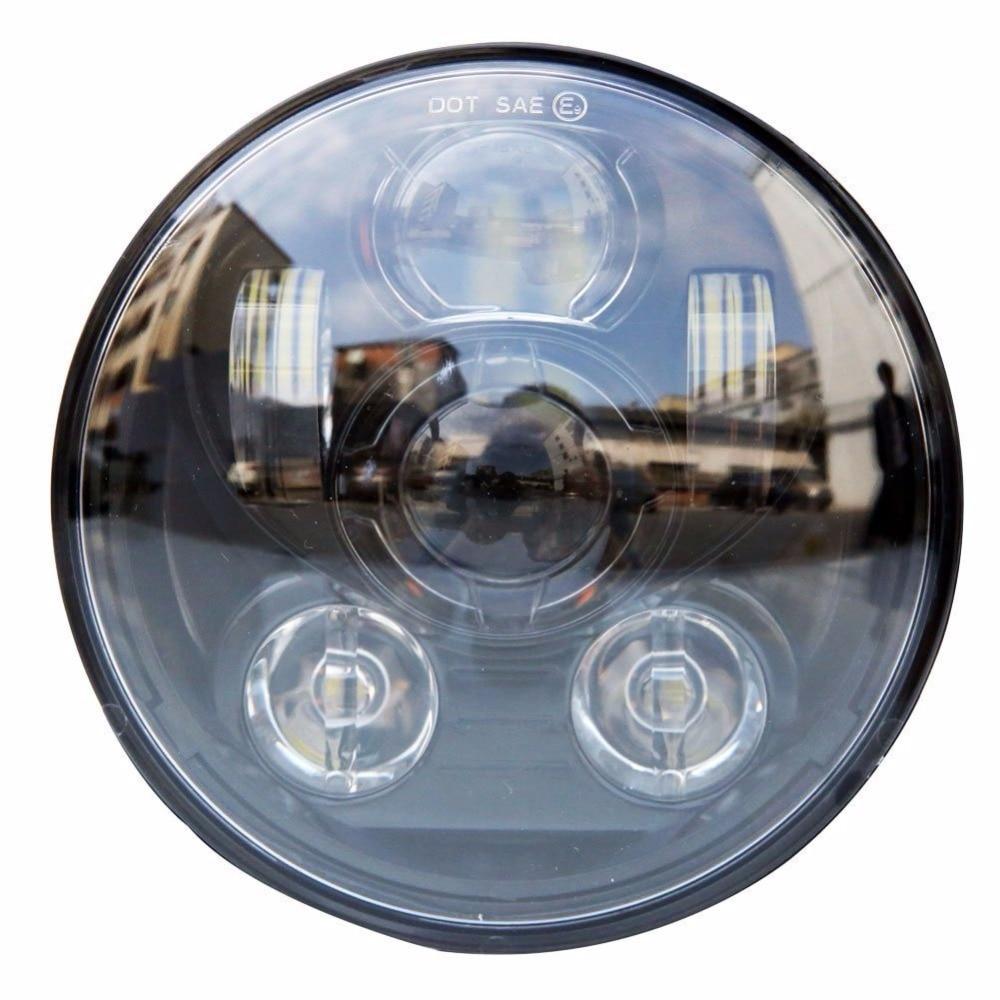DOT 45W 5.75 Inch 5 3/4 LED Headlight Light Lamp High Low Beam For Harley Sportster XL883/1200 H/L