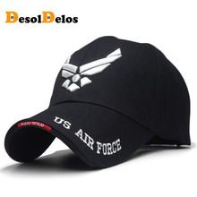 US Air Force Mens Brand Embroidered Letters Tactical Caps Baseball Cap Men Navy Seal Army Cap Outdoor Sports Hat 2019 mens navy seal camo baseball caps green berets soldier tactical hats army sniper camouflage caps gorras spring summer