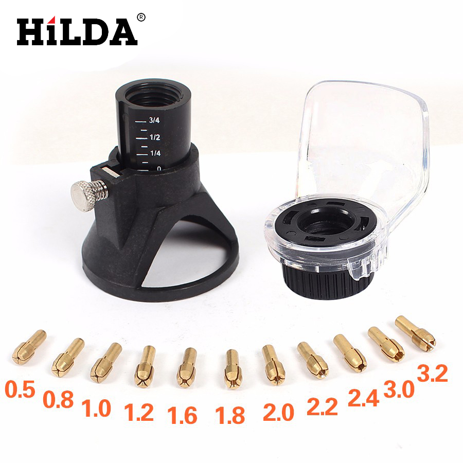 HILDA 13pcs A550 Shield Dremel Rotary Tool And Dremel Drill Dedicated Locator Horn Attachment Accessories With Brass Collet