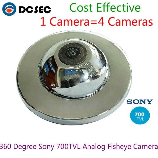 US $76 0 |Best Home Security fish eye lens 700TVL 360 degree wide angle  fisheye panoramic mini analog mini dome camera with UFO housing-in