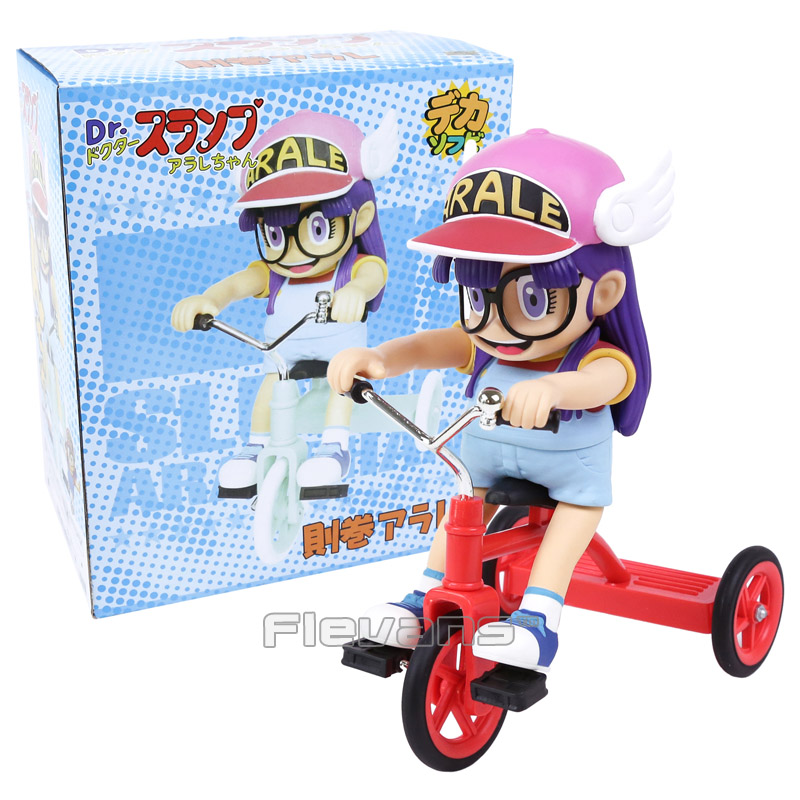 Cute Cartoon Dr. Slump Arale with Bike PVC Action Figure Collectible Model Toy Chirstams & Birthday Gift for Children Kids