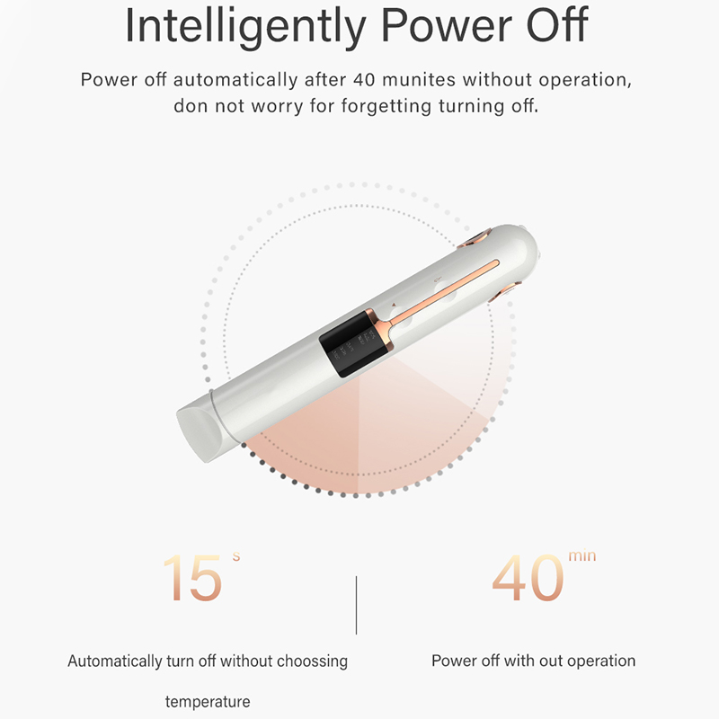 Image 4 - Mini Usb Cordless Hair Straightener With Power Bank Lock System Travel Flat Irons Portable Wireless Straightening Hair Iron-in Straightening Irons from Home Appliances
