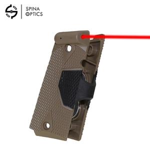 Spina Outdoor Jacht Accessoires 1911 Handvat Grip Red Laser Sight Zilver Terug Tactische Red Dot Laser Sight Voor Pistool(China)