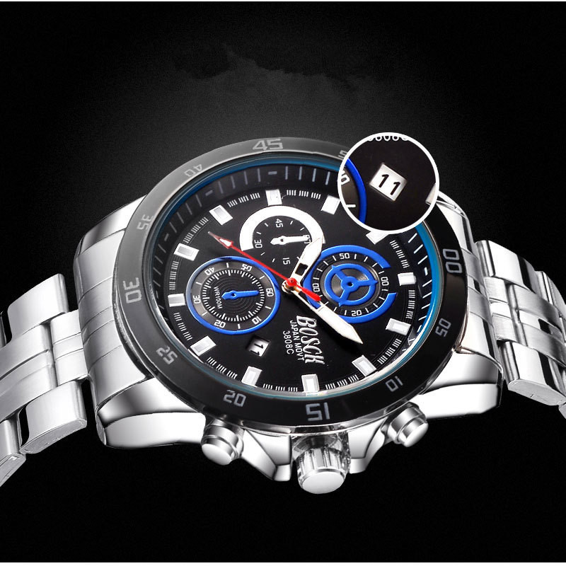 BOSCK-3808, the luxury sport men's watches, watch brand of high-end wrist, automatic calendar quartz watches, fashion watches