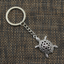 Sea Turtle Keychain (Silver/Bronze Plated)