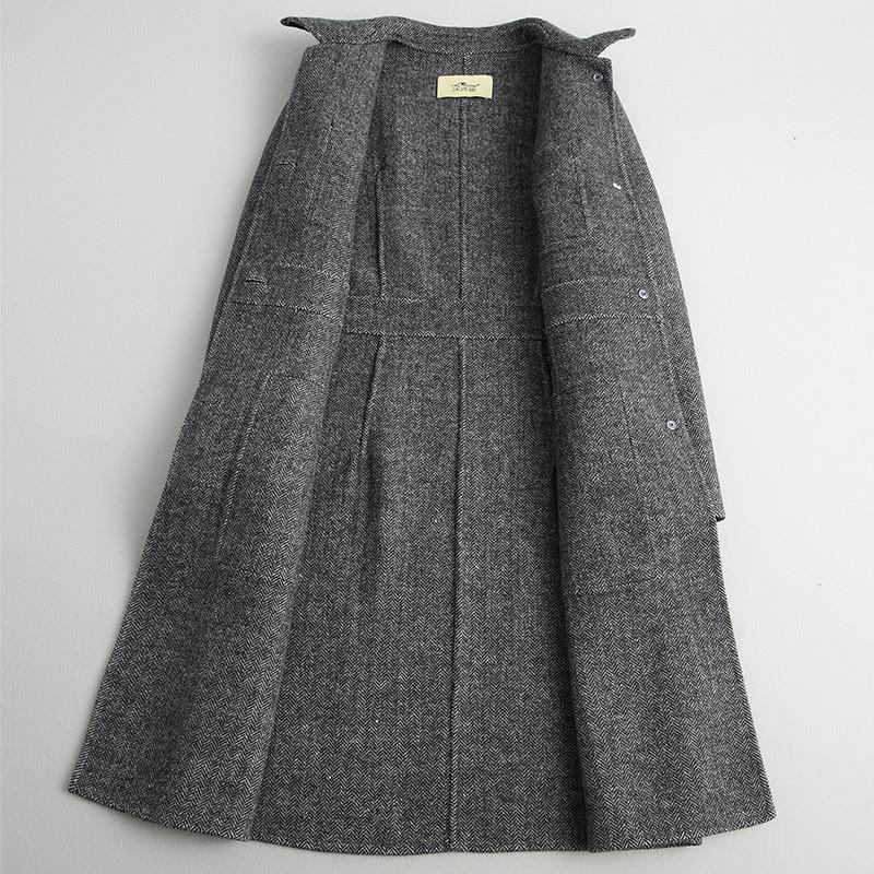Automne Femmes D'hiver Coréenne Femelle Noir Ayunsue 38079 Printemps Mélange Manteau Casual Vestes De Laine Long Wyq1802 EPxpCqwp