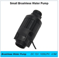 Mini Water Pump DC 12V 18W 1020LPH 4.5M,Pipe Booster Inline Brushless Small Fountain,Aquarium,Hot Water Circulation Pumps