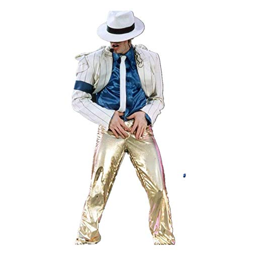 Michael Jackson Cosplay Suits Smooth Crinimal Costume White Siuts Gold Pants Men's Fashion Suits/Pants/Shirt/Hat/Tie