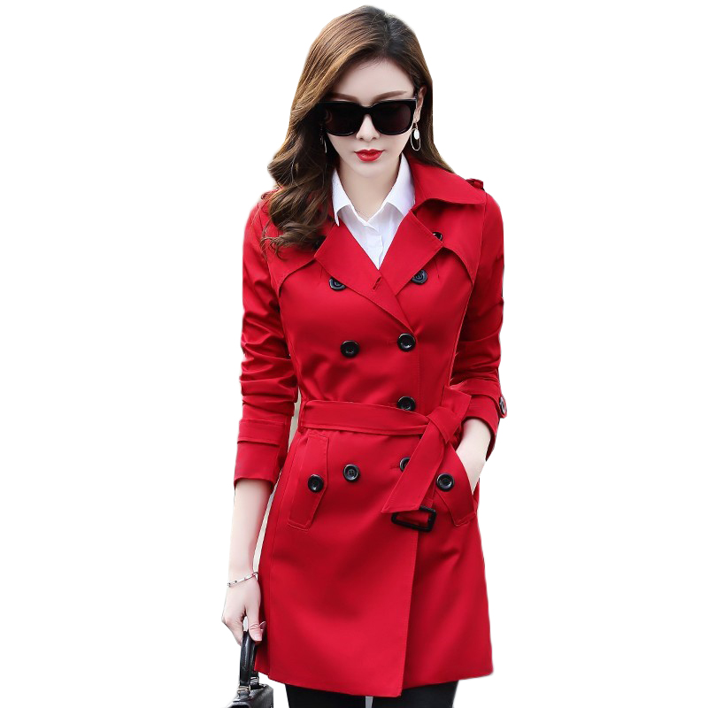 Plus size 6XL Windbreaker Female 2019 New Spring Autumn Korean Large Size Long section Chic   Trench   Coats Women Clothing AA585