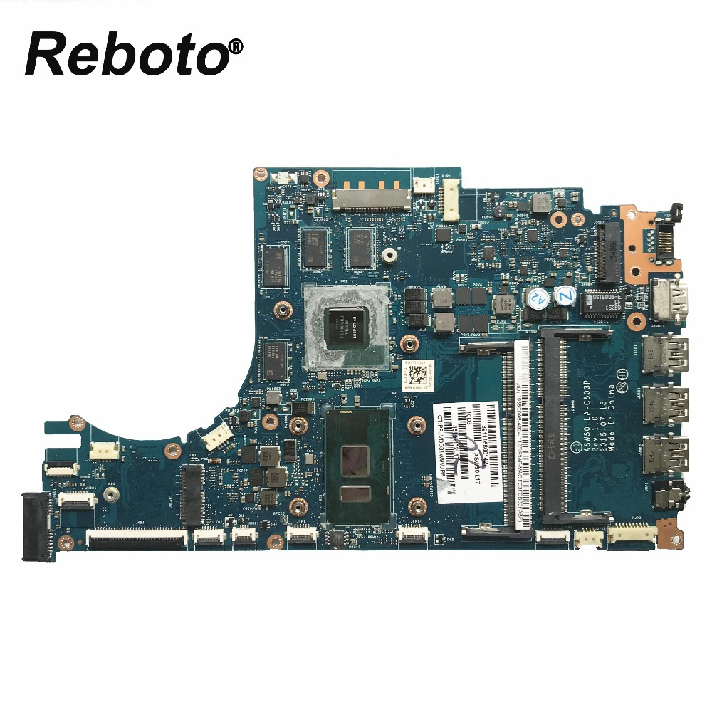 Reboto For HP 15 AE 15T AE Laptop Motherboard 829900 601 ASW50 LA C503P With i7