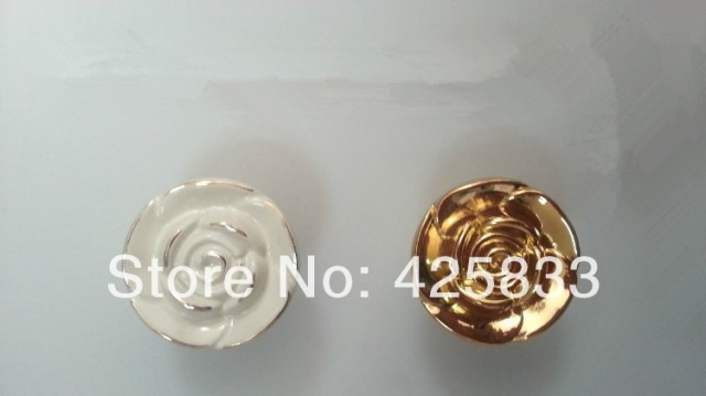 10pcs Golden Rose Zinc Alloy Cabinet Handles Kitchen Pulls Closet Drawer Knobs Golden Drawer Pulls Cabinet Handle Wardrobe
