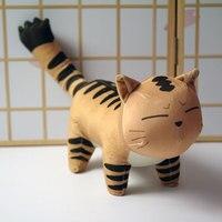 Yu Gi Oh figure plush toy Anime Yu Gi Oh Duel Monsters Jaden Yuki cat doll soft pillow 35cm for gift
