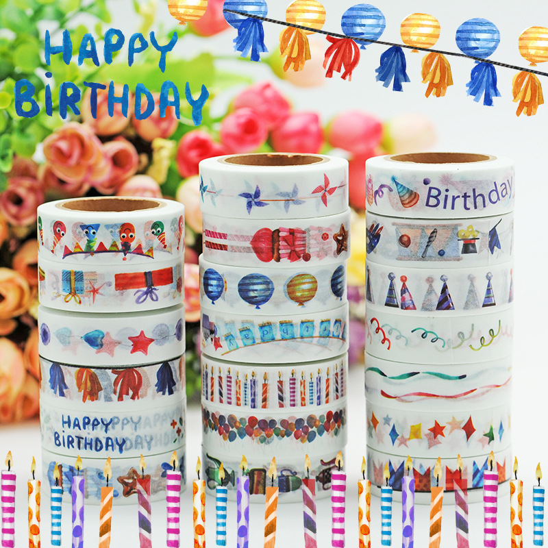 Cheap-School-Stationery The Best Gifts for Children Birthday Washi Tape Japanese Masking Tape Decorative Tapes 20pcs /Lot Sale allbitefo golden zip decorate fashion spring winter snow shoes genuine leather pu women boots casual knee high boots size 33 43