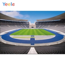 Yeele Football Soccer Field Stadium Platform Playground Backgrounds Vinyl Cloth Computer Printed Wall For Photo Studio Backdrops soap stadium inflatable water soccer field inflatable football field with