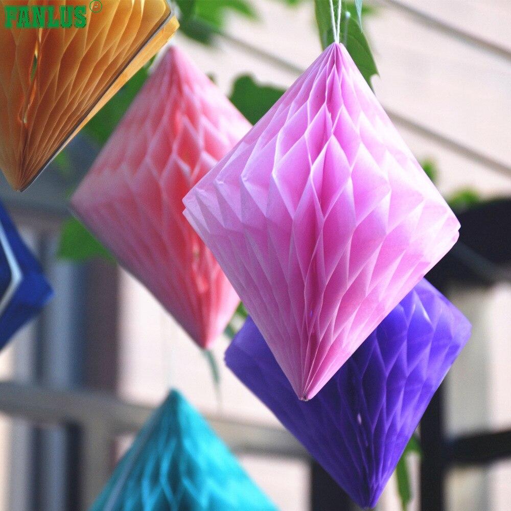 Fanlus 6/10 pulgadas Decorativo Papel Tisular Diamante Bolas de Nido - Para fiestas y celebraciones