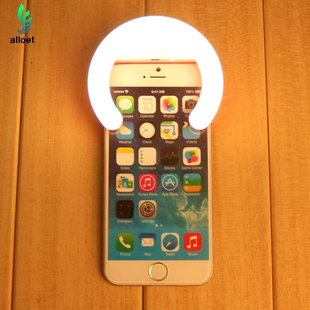 Rechargeable Spotlight Luxury Night Darkness Selfie Enhancing Photography External Unobstructed Ring LED Light for Smart Phones