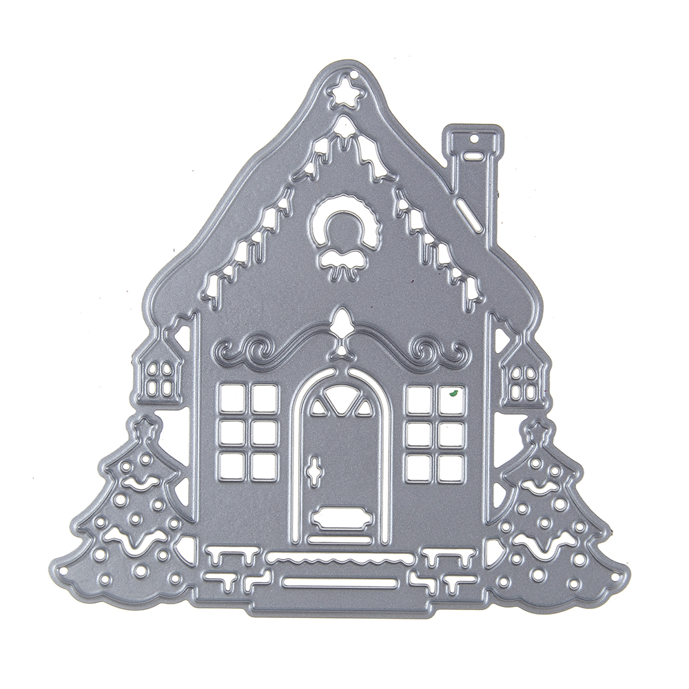 Adv-one Metal Dies Cutting Decorative Embossing DIY House Backdrops Card Scrapbooking Steel Craft Die Cut Stamps Card Stencil