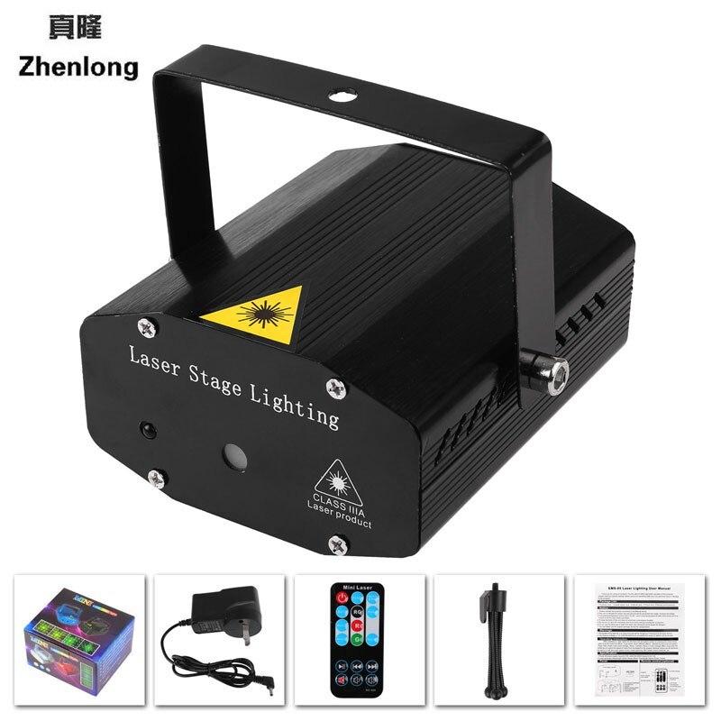 AU UK US EU Plug Mini LED Laser Pointer Disco Stage Light Party Pattern Lighting Projector Show IR Remote RG Laser Projector
