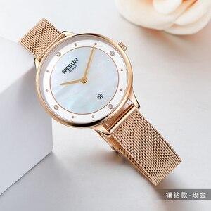 Image 4 - Nesun Vrouwen Horloges Top Luxe Merk Japan Import Quartz Parel Relogio Feminino Klok Diamond Horloges N8805 1