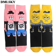DMLSKY Cartoon kids Funny Socks Women Men Fashion 3D Printed Cotton Novelty M3722