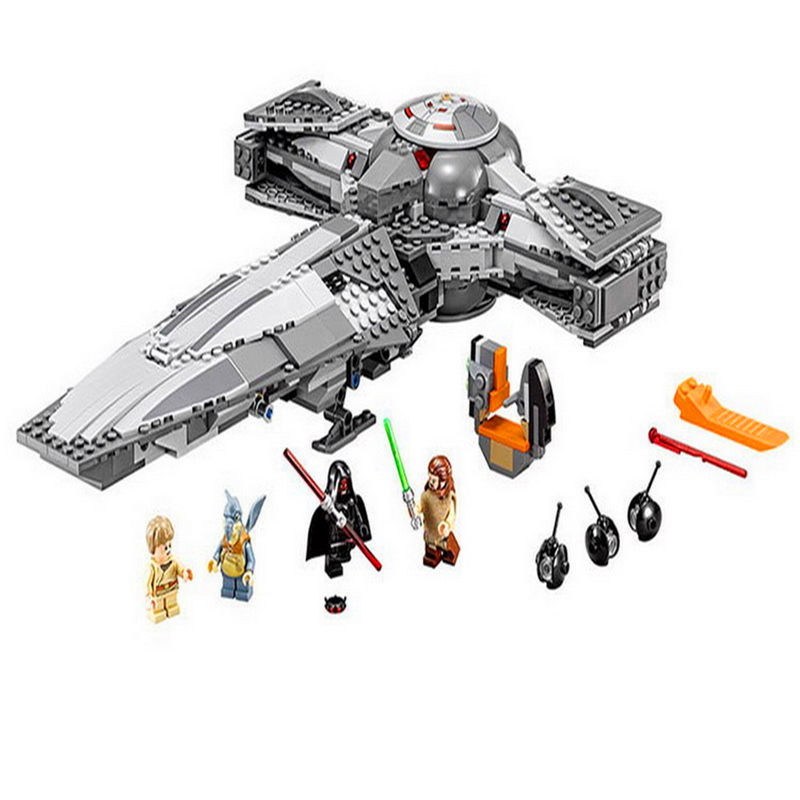 698Pcs Star Wars 7 Force Awaken Sith Infiltrator Model Building Block Toys LEPIN 05008 Gift For Children Compatible Legoe 75096 lepin 22001 pirate ship imperial warships model building block briks toys gift 1717pcs compatible legoed 10210