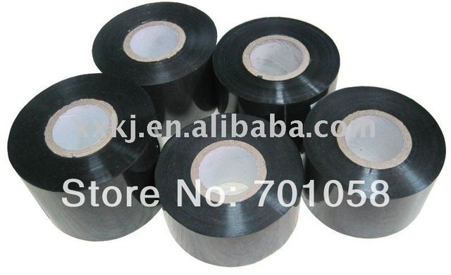 Hot stamp roll Black color 30mm*120M  print Batch-number/Code/EXP