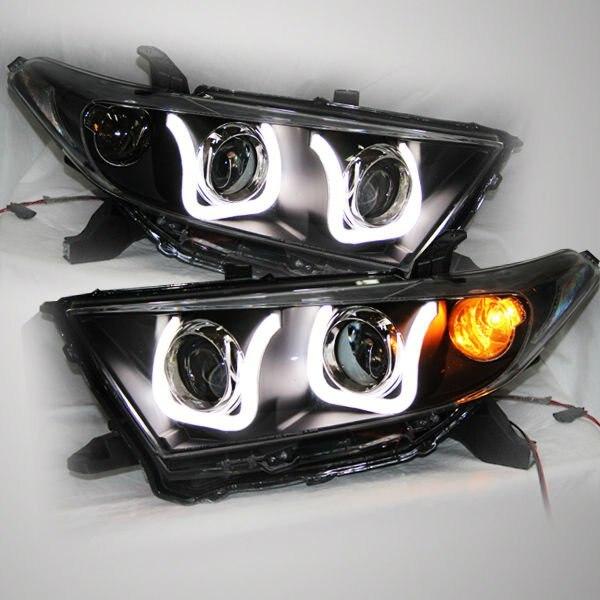 2012-13 il Highlander LED Strip U Style Head Toyota üçün - Avtomobil işıqları - Fotoqrafiya 1