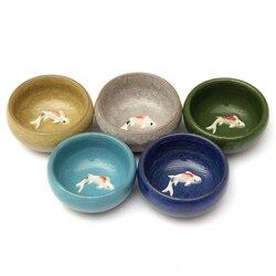 Best 55ml Colorful Ice Cracked Glaze Ceramic China Kongfu Tea Cup 3D Carp Teaset Porcelain Teapot Drinkware Creatives Home Gifts
