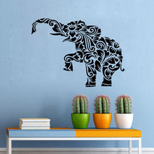 Hot Sale Ganesha Wall Decal Tribal Floral Indian Elephant Sticker Art Home Decorative Mural Y-493
