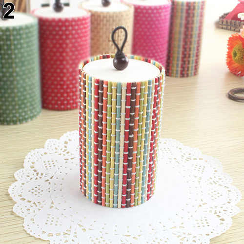 Unique Cylinder Jewelry Bamboo Wooden Storage Organizer Box Wedding Favor Case