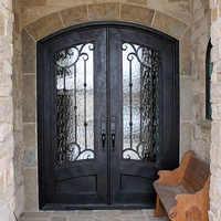 Sprzedaż hurtowa kutego żelaza drzwi wejściowe żelazne żelaza podwójne drzwi wejściowe żelazne żelaza drzwi wejściowe żelazne żelaza drzwi wejściowe na sprzedaż hc19