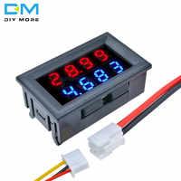 4 digitale Display DC 0-200 V 10A 0,28 0,28 Zoll LED Voltmeter Amperemeter Rot + Blau LED spannung Strom Tester Meter Für Auto DIY kit