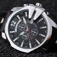 Curren 8176 Mężczyźni Zegarki Top Marka Luksusowe Złota Mężczyzna Zegarka Mody Zegarek Skórzany Pasek Dorywczo Na Zewnątrz Sportowe Z Dużą Tarczą
