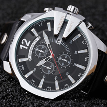 Фотография Curren 8176 Men Watches Top Brand Luxury Gold Male Watch Fashion Leather Strap Outdoor Casual Sport Wristwatch With Big Dial