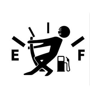 Funny Car Stickers High Gas Consumption Decal Fuel Gage Empty Stickers Waterproof Auto Tank Stickers For Car Styling 10*14cm