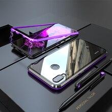 Роскошный Магнитный чехол для huawei Nova 3 3i mate 20 P20 Pro Lite металлический бампер стеклянная задняя крышка huawei Nova 3i чехол mate 20 P20Pro