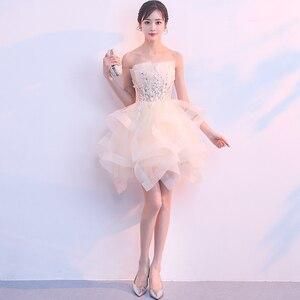 Image 2 - Robe sueur courte sans manches, robe de princesse demoiselle dhonneur soirée banquet, livraison gratuite, nouvelle collection