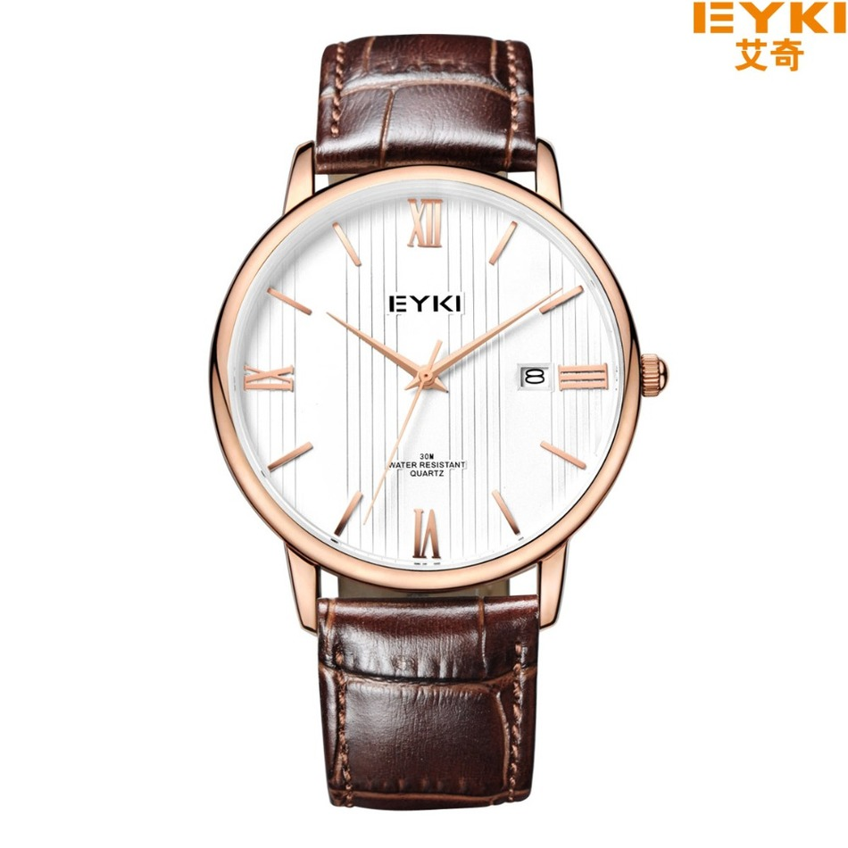 Eyki latest japan movt quartz watch stainless steel back wristband watch for band watch for Celebrity quartz watch japan movt