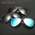 VEITHDIA Aluminum Magnesium Unisex Polarized Mirror Driving Men's Sunglasses Eyewear Accessories For Men 6693