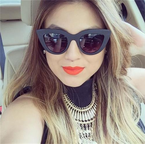 HTB1dDunRpXXXXb8XVXXq6xXFXXXS - Women's cat eye sunglasses ladies Plastic Shades quay eyewear brand designer black pink sunglasses PTC 221